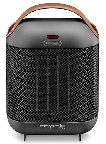 De'Longhi HFX30C18.AG Calefactor cerámico, 1800 W, dos niveles de potencia, ventilación de verano,...