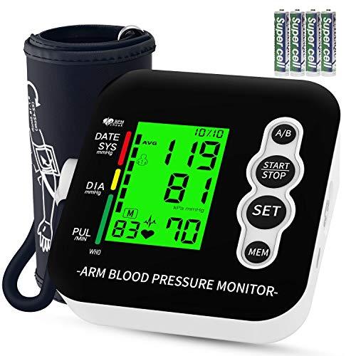 Tensiómetro de brazo, OUDEKAY Monitor de Presión con pantalla de LCD, Tensiómetro de Brazo...