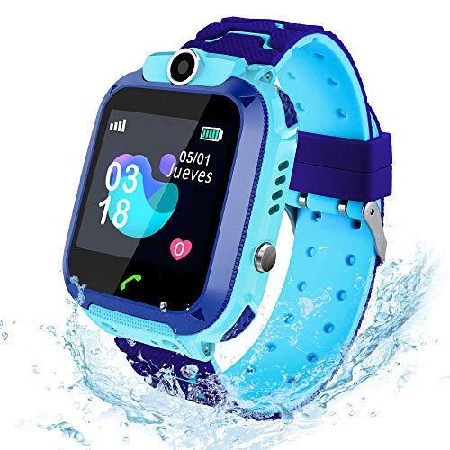 AIMIUVEI Smartwatch Niños, Reloj Inteligente Niño IP67, LBS, Llamada Bidireccional, SOS Modo de...