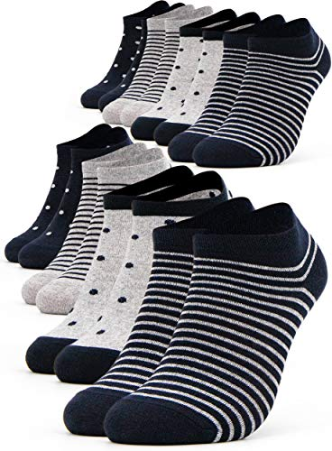 Occulto 8 pares de Calcetines para Mujer | Calcetines para Zapatos de Verano para Mujer | Calcetines...
