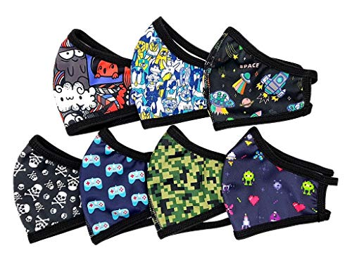 Pack semanal de 7mascarilla tela homologada - NIÑO MAYOR - mascarillas tela homologadas lavables y...
