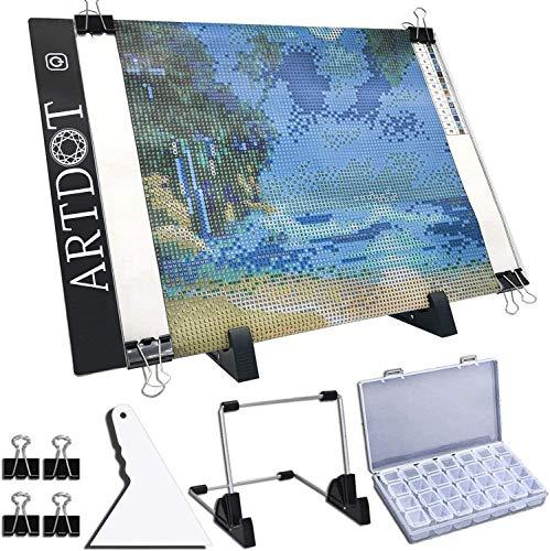 ARTDOT A4 Mesa de Luz Dibujo light board Ajustable Soporte LED Tableta de Luz Dibujo con Cable USB...