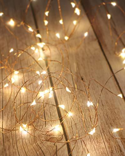 Litogo Guirnalda Luces Pilas, Luces LED Pilas, Luces LED Habitacion 5m 50 LED Luces de Cadena Micro...