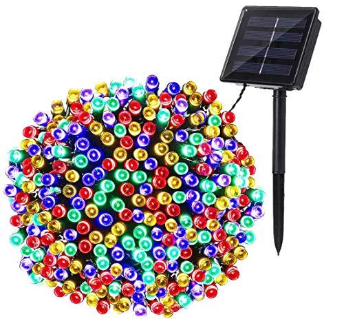 Luces de Navidad Solares Exterior, BrizLabs 22M 200 LED Cadena de Luces Colores 8 Modos Impermeable...