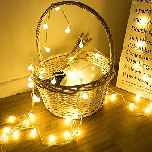 40 LED 16ft Cadena Luces, luz blanca cálida, Alimentado por batería, Resistente al agua,...