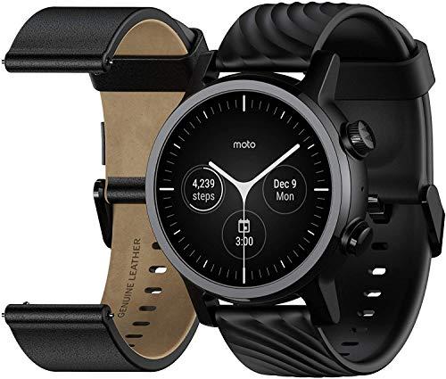 Motorola Moto 360 Smartwatch – 3ª generación – Caja de acero inoxidable con bandas de 20 mm,...