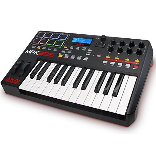 AKAI Professional MPK225 -Teclado controlador MIDI USB compacto de 25 teclas semi-contrapesadas,...