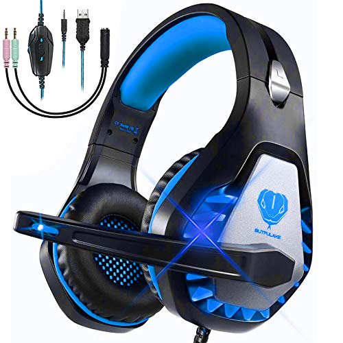 Cascos Gaming para PS4 PS5 Xbox One Nintendo Switch Laptop PC, DIWUER Auriculares Gaming con...