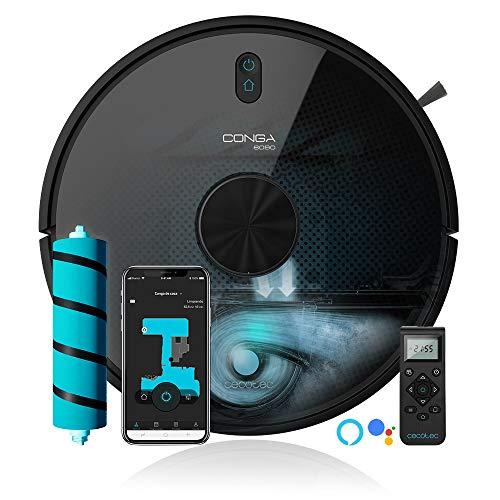 Cecotec Robot aspirador y fregasuelos Conga 6090 Ultra, Láser, Tecnología ciclónica, Aspira,...