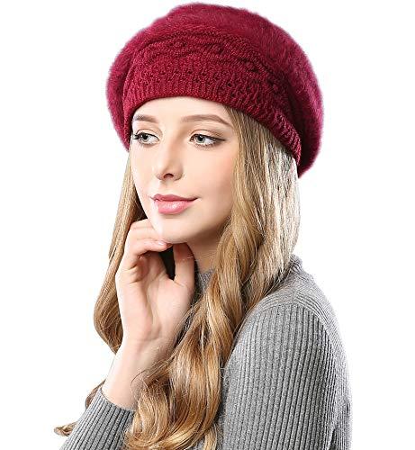 Alleza Boinas Francesa Sombreros de Mujer Lana Vintage Fiesta Invierno Gorro Caliente Beret Francés...