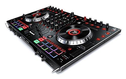 Numark NS6II - Controlador de DJ de 4 Canales para Serato DJ (Incluido), Dos Puertos USB para...