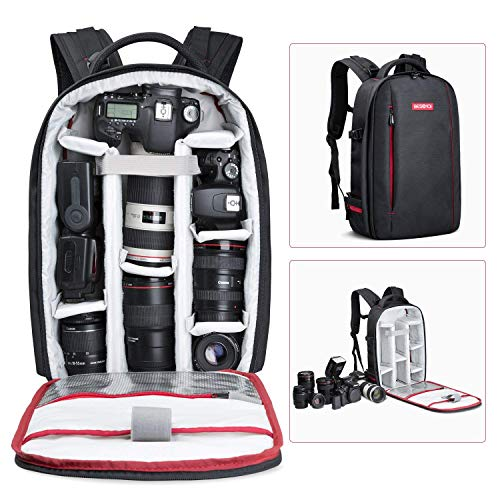 BESCHOI - Mochila para cámara réflex Digital, Impermeable, para cámaras de Fotos Sony, Canon,...