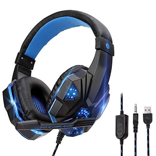 YOUPECK Auriculares Gaming, Cascos Gaming de Estéreo con Micrófono con Cancelación de Ruido, Bass...