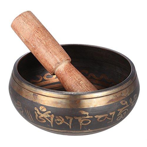 ammoon Tibetano de la Campana Metal Tazón de Cantar Exquisito 2,8 Pulgadas Hecho a Mano con el...