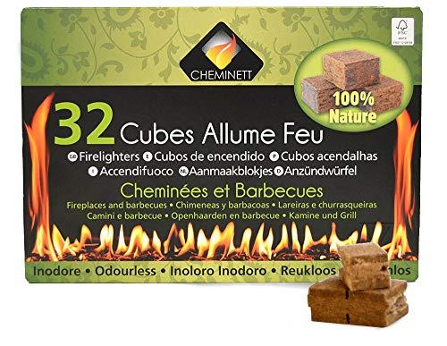 Cheminett S&M 15751 Cubos Encendido precortados Naturales para encender chimeneas, Estufas y...