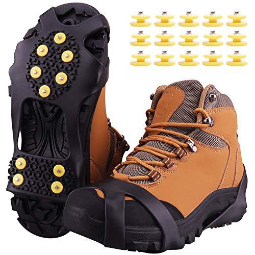 Fesoar Crampones,Racos de Hielo Tracción Antideslizante Más de Zapatos/para 15 Tacos Nieve Hielo...