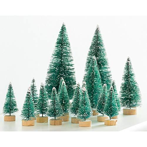 SA Products - Juego de 28 árboles de abeto para mesa de Navidad (28 unidades)