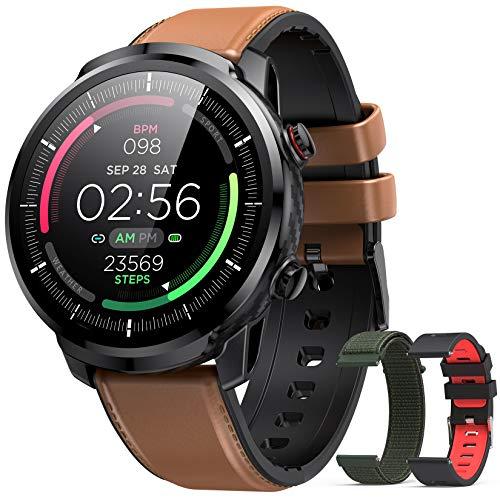Reloj Inteligente Hombre, Hommie Smartwatch Hombre de Pantalla Táctil Ccompleta Impermeable IP68,...