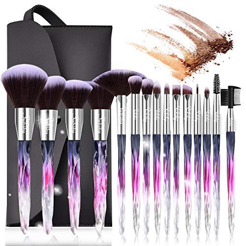 Set de brochas de maquillaje profesional Subsky 15 piezas Pinceles de maquillaje Set Premium...