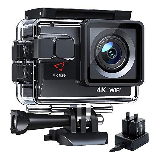 Victure Cámara Deportiva AC800 WiFi 4k Ultra HD 20MP Cámara de Acción Acuatica de 40M con 2...
