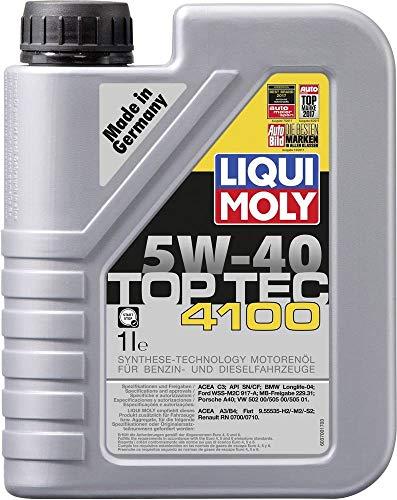 Liqui Moly 3700 Top Tec 4100 5W-40 - Aceite antifricción con tecnología HC y bajo Contenido en...