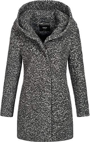 ONLY Onlsedona Boucle Wool Coat Otw Noos Abrigo, Gris (Dark Grey Melange Detail:Melange), XS para...
