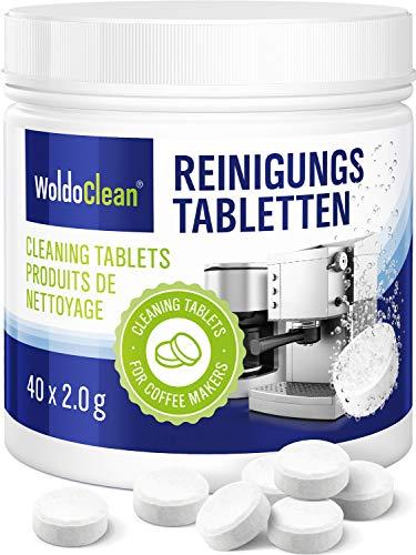Pastillas para la limpieza de cafeteras automáticas - 40x tabletas limpiadoras compatible con...