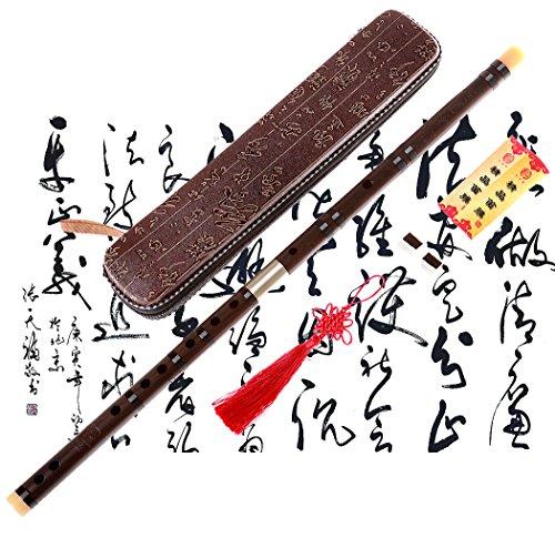 Instrumento chino tradicional tipo flauta de bambú, hecho a mano, Dizi NICOSHINE, Key D...
