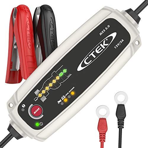 CTEK MXS 5.0 Cargador de Batería Totalmente Automático (Carga, Mantiene y Reacondiciona las...