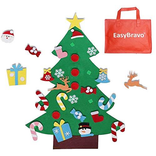 EasyBravo El árbol de Navidad del Fieltro de los 3.6FT DIY fijó + los Ornamentos Desmontables...