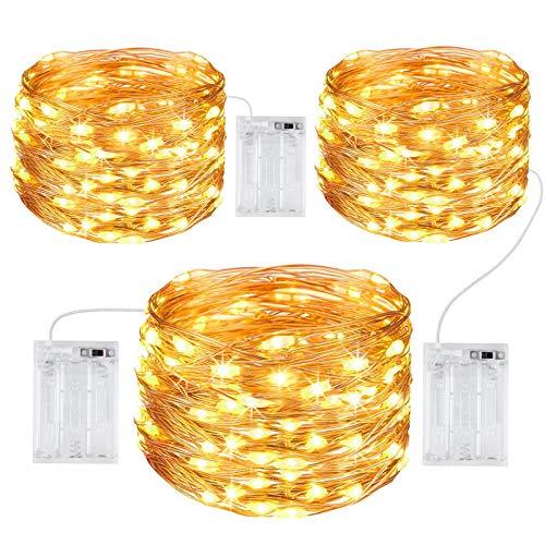 Gritin Guirnalda Luces, [3 PCS] 10M/100 LED Guirnalda Luces LED Exterior Impermeable Cadena Luces de...