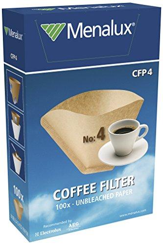 Menalux CFP4 - 100 Filtros de papel 1x4 para cafetera de goteo