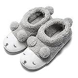 Zapatillas de Casa Botas de Invierno Suaves Peluche Caliente para Mujer Gris Alto 35/36