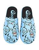 Disney Aladdin Genie hombres de poliéster zapatillas azules