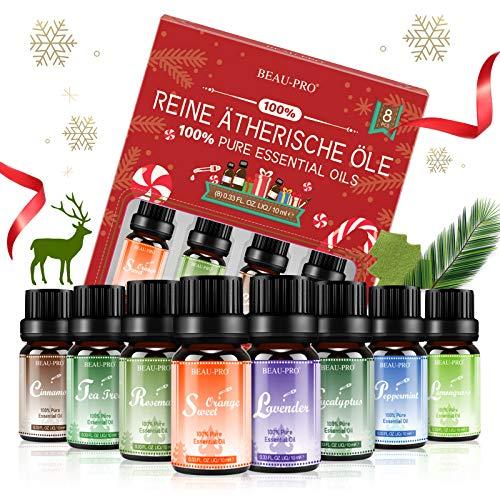 Aceites Esenciales 100% Puros Naturales, 8 * 10ml Set de Aromaterapia Aceites Esenciales para...