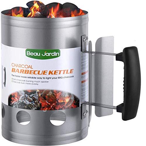 BEAU JARDIN Encendedor de carbón para barbacoa Para encender la parrilla Arrancador Chimenea...