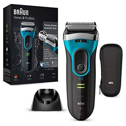 Braun Series3 ProSkin 3080 s - Afeitadora eléctrica hombre, afeitadora barba inalámbrica y...