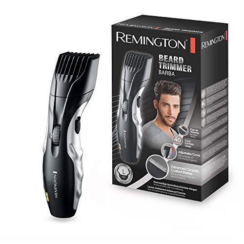 Remington MB320C Ceramic Beard- Barbero, Cuchillas Cerámica, Inalámbrico, 9 Ajustes, 1.5- 18 mm,...