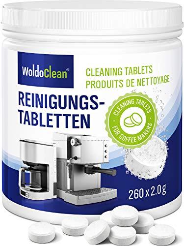 Pastillas para la limpieza de cafeteras automáticas - 260x tabletas limpiadoras compatible con...