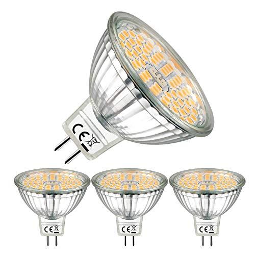 EACLL Bombillas LED GU5.3 2700K Blanco Cálido, Sin Parpadeo, MR16 12V 6W 595 Lúmenes Equivalente...