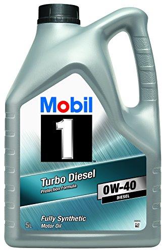 Mobil 1 151041 Turbo Diesel - Aceite sintético de Motor turbodiesel (0W-40, 5 l)