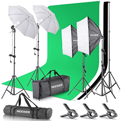 Neewer Set para Estudio fotográfico y producción de vídeo, Sistema de Soporte de 2,6 m x 3 m con...