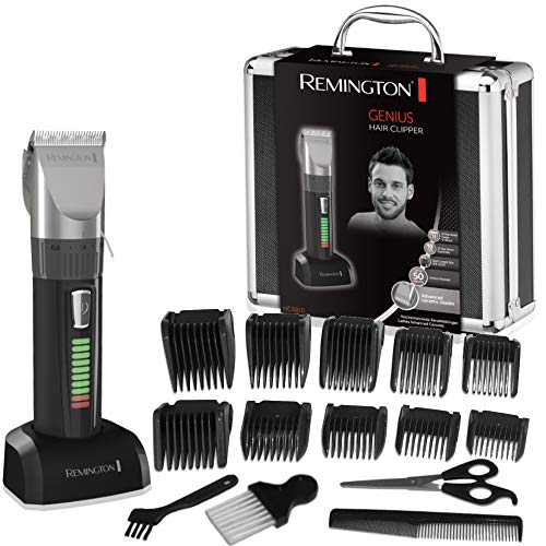 Remington Genius Máquina de Cortar Pelo - Cortapelos con Cable e Inalámbrico, Cuchillas de...