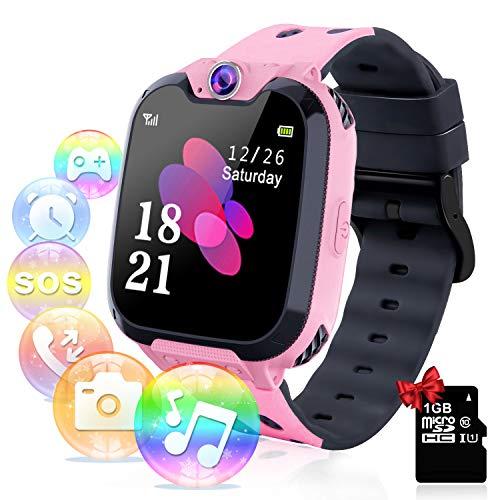 Relojes para Niños - Música Smartwatch para Niños Niña Game Watch (Tarjeta SD de 1GB incluida...