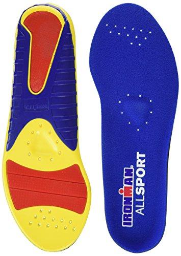 Spenco Ironman, Hierro de Deporte, Multicolor (Blue/Yellow/Red), 38-40 EU (5-6 UK)