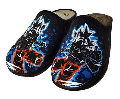 Zapatillas Fan Art inspiradas en Goku Dragon Ball - Cómodas casa Pantuflas (Numeric_39)