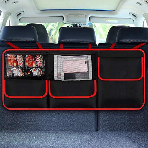 Organizador de maletero para coche,organizador maletero, [elastic net & 4 estructura de varita...