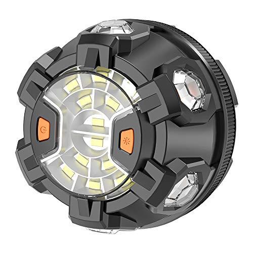 POWERGIANT Luz Emergencia Coche Rotativo LED con Base Magnética y Gancho para Automóvil,...