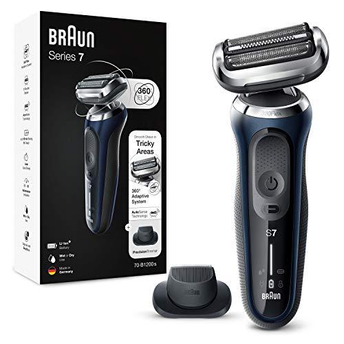 Braun Series 7 Afeitadora Eléctrica Hombre, Máquina de Afeitar Barba con Recortadora de Precisión...