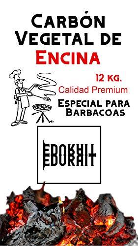 Carbón Vegetal Ecologico de Encina, para Barbacoas, Procedente de la Poda de Dehesas, Alto Poder...